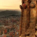 Hajdu Gáspár: Képeslap, Barcelona [Város képe felülről]